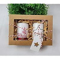 """2 St. Weihnachtskerzen - kleines Mitbringsel""""Frohe Weihnachten"""" in Geschenkbox"""