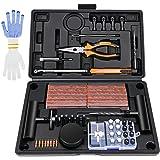 Kohree 100PCS Kit de Reparation de Pneu Moto Professionnel Meche Pneu Kit Crevaison Réparation Pneu tubeless Voiture Portable