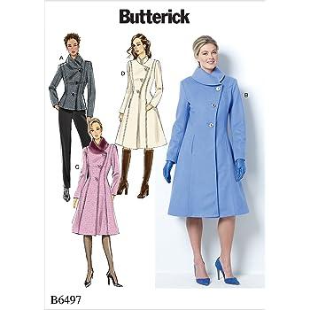 Butterick Patterns 6497 B5 Misses/Miss Petite Jacke und Mantel ...