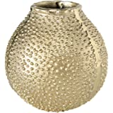 Leaf Design UK Grand Vase en m/étal plaqu/é Nickel martel/é 12 x 28 cm Argent/é 28 cm