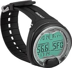 Scuba Diving computer - Cressi Leonardo - Wrist style - Air / Nitrox Modes Colour: BLACK/ BLACK