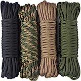 aufodara 4 Stück 19ft/6 Meters Paracord Schnüre 4mm Nylon Seil 7 Kern-Strängen - 4 Farben, Gesamtlänge 76ft