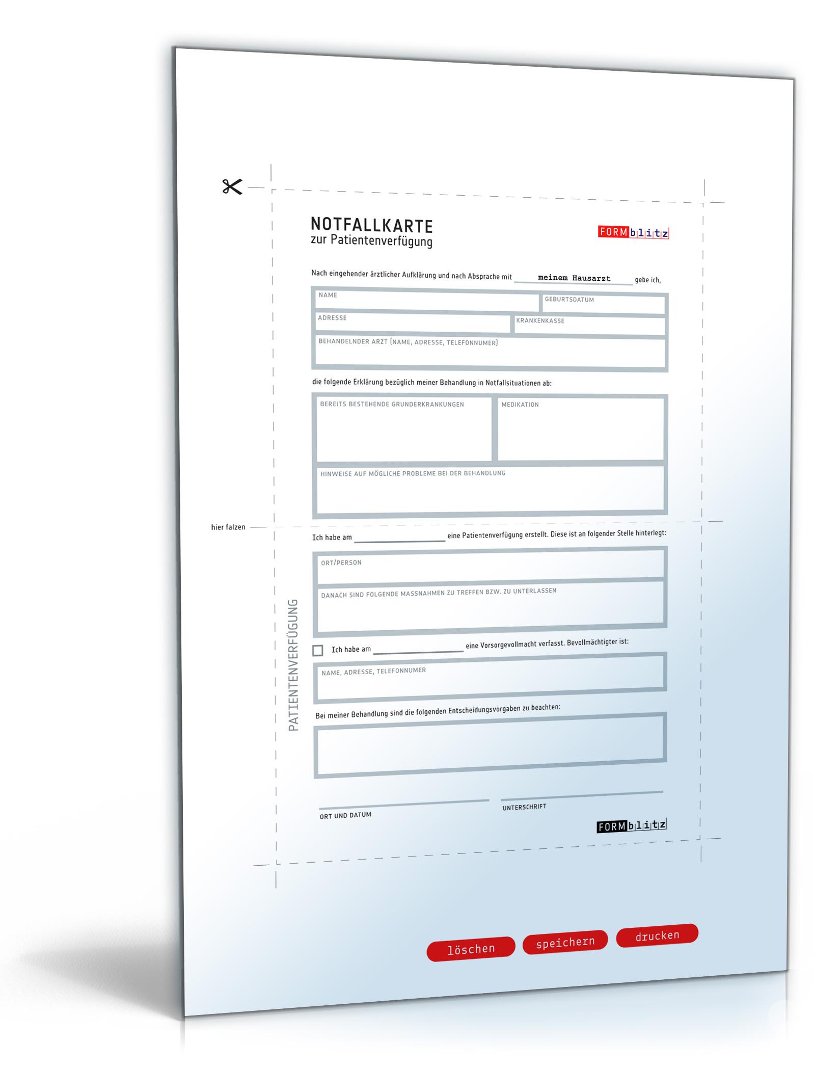 Notfallkarte Patientenverfügung [Download]