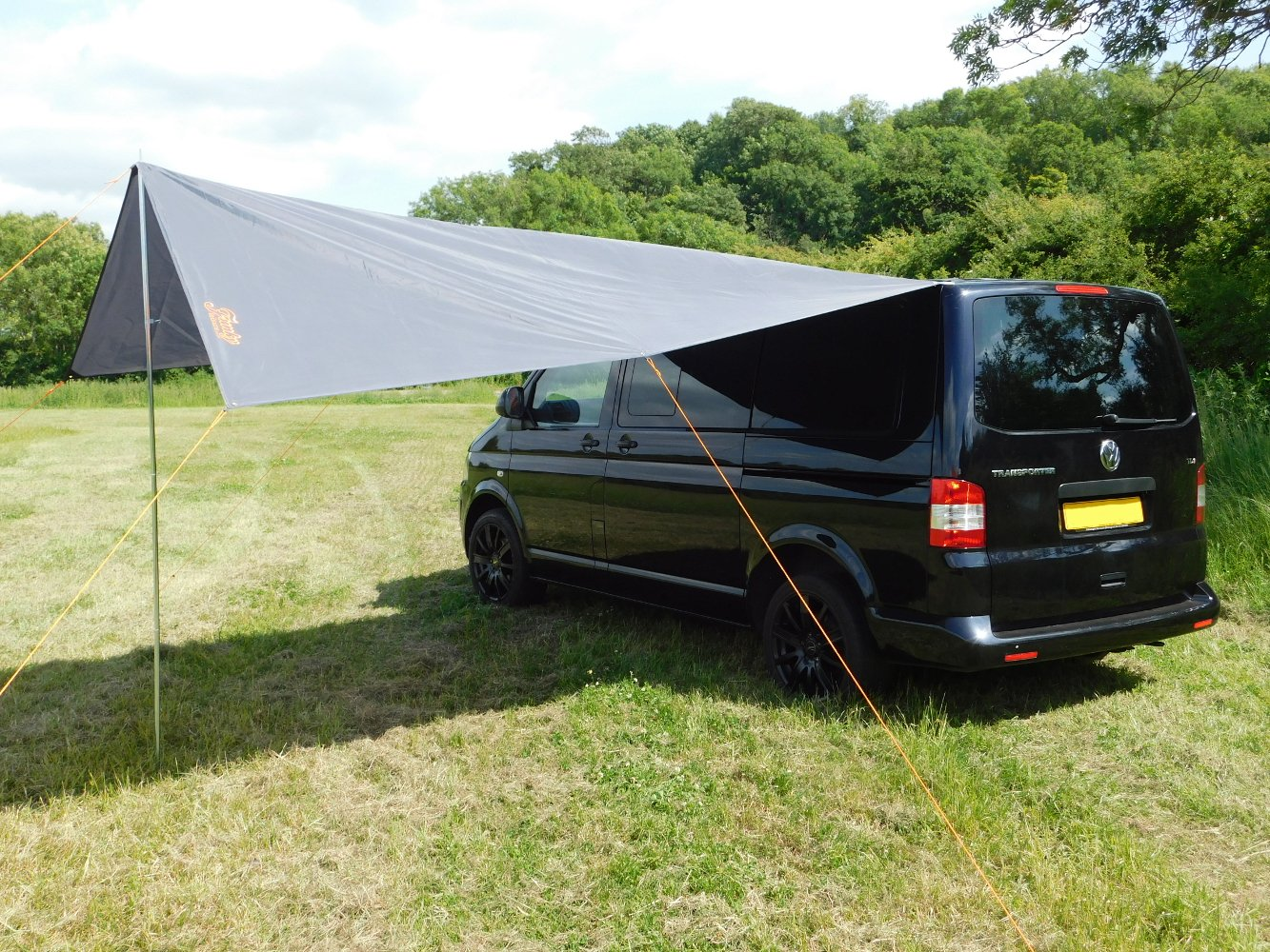 DEBUS Campervan Sun Canopy Awning - Anthracite Grey 5