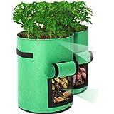 Tvird Potato Grow Bags 2 Pack 10 Gallon Potato Growing Bags Potato Planting Bag with Flap and Handles for Potato, Tomato…