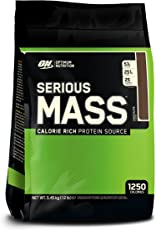 Optimum Nutrition (ON) Serious Mass Weight Gainer Powder - 12 lbs, 5.44 kg (Chocolate)