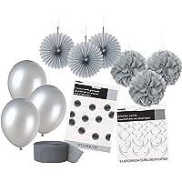 Unique Party 63839 - Kit de Décorations de Fête Argents
