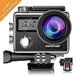 Campark Action Cam X20 HD 20MP 4K WiFi Touch Screen Macchina Fotografica Subacquea 30M con Custodia Impermeabile, Doppio...