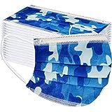 JFSG Niños Protección, Impresión de Camuflaje con Elástico para Los Oídos Pack 10/20/30/100 unidades-jfhrfged-012624 (50PC, M
