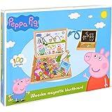 Peppa Pig Kindertafel Maltafel Magnettafel Spielzeug # Schultafel Standtafel Schreibtafel Lernspiel Spieltafel mit Zubehör Tafel mit Kreide & Magnet Kinder