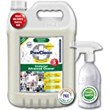 PaxClean HyGenius Disinfectant Advanced Cleaner, 5L Combo with Refillable Spray Bottle