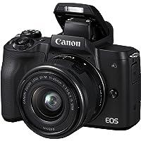 Canon EOS M50 spiegellose Systemkamera (24,1 MP, dreh- und schwenkbares 7, 5cm (3 Zoll) Touch-LCD, 4K Video, OLED EVF…
