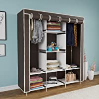 Maison & Cuisine® 6+2 Layer Fancy and Portable Foldable Collapsible Closet/Cabinet (Need to Be Assembled) 126x42.5x166cm…