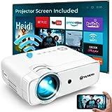 VANKYO L430W WiFi Mini Projector w/ 100 Inch Projector Screen, 6500 Lumens Portable Movie Projector Supports Full HD…