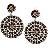 Mehpriye Gold Plated Cubic Zirconia Stone Brass Earrings