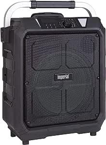 Imperial Beatsman 100 Mobile Bluetooth Pa Sound System 100 Watt Power Battery Bluetooth Fm Radio 2x Wireless Microphone Usb Sd Card Reader Guitar Input Black Mp3 Hifi