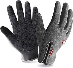 T98 Touchscreen Handschuhe Fahrradhandschuhe Winddicht Wasserdichter Laufhandschuhe Sporthandschuhe Warme Winterhandschuhe Damen Herren Rutschfest für Smartphones,Perfekt für Herbst Oder Frühling