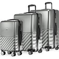 Hauptstadtkoffer Boxi - Set de 3 Valise Bagages Rigide, (S, M, L), Argent
