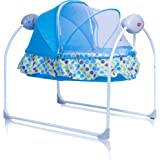 Luvlap Galaxy Cradle for Babies - New Born Baby Swing Cradle Bed with Auto Swing and Mosquito Net – Blue