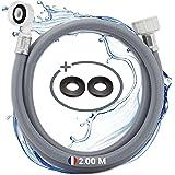 Electroo Tuyau Alimentation Machine a Laver - Flexible Rallonge Tuyau Lave Vaisselle Lave Linge Renforcé - Facile à Installer