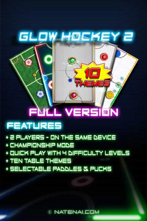 Glow Hockey 2 Pro Capture d'écran