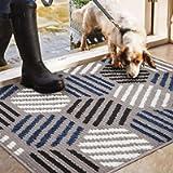Color&Geometry Non-slip Door Mat 50 X 80 cm, Machine Washable Soft Doormat Dirt Trapper Area Rug Front Door Entrance Rug…