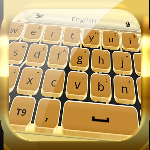 Tastiera di macchina da scrivere d'oro