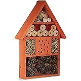 Relaxdays, orange Hôtel à insectes maison à papillon bois jardin balcon abeilles HxlxP: 40 x 27,5 x 7 cm, 7 x 27,5 x 40 cm