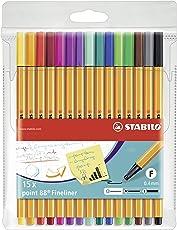 Fineliner - STABILO point 88 - 15er Pack - Standardfarben