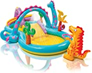 INTEX Dino Slide & Pool, Multi-Colour, 57135