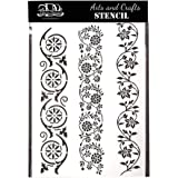 Bonzerdigs Border A4 Size Stencil for Craft Painting Scrapbook Coloring Embossing Album Decorative Paper Card
