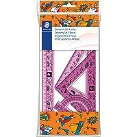 Staedtler 569 Design Comic - Polybag 1 Set De Géométrie (Règle 30 Cm, Rapporteur 10 Cm, Équerres 60/30 & 45/45) Couleurs…