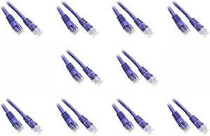 6-Inch Cat5e Snagless//Molded Boot Ethernet Patch Cable Purple 10-Pack CNE48625