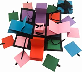 Greeting cards buy greeting cards online at best prices in india crack of dawn crafts 3 layered all occasion explosion box rubiks hues m4hsunfo