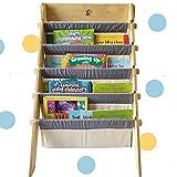 CuddlyCoo Wooden Book Rack/Shelf for Kids' (60 cm x 55 cm x 75 cm, Beige)