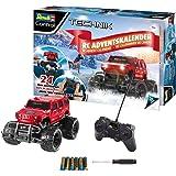 Revell Control 01022 Adventskalender RC Offroad-Truck, mit Fernsteuerung und Batterien in 24 Tagen zum selbstgebauten, ferngesteuerten Auto, ab 8 Jahren, 25 cm