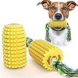 Yuning Giochi per Cani, Giocattolo Multifunzionale per Cani di Mais, Gomma Estremamente Resistente per la Pulizia dei Denti,
