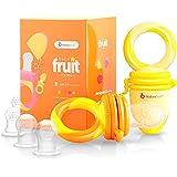 Alimentador antiahogo bebe, chupete fruta bebe de NatureBond (2 piezas), mordedores bebes | Además incluye bolsitas de silico