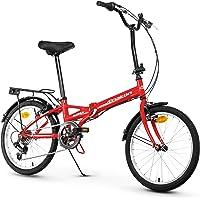 Anakon Folding Vélo de Sport Pliable Unisexe pour Adulte Rouge