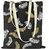 Bonamaison Bedruckte Einkaufstasche, Tasche, Faltbar, Stofftasche mit Zwei Langen Henkeln, Größe: 34x40 Cm