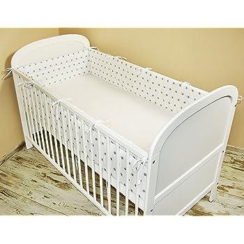 Tour de lit pour bébé avec protection sur les bords et au niveau de ... 4ba2e5569eb
