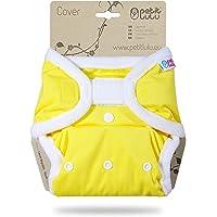 Cover Petit Lulu | Taglia unica | Hook & Loop | Pannolini lavabili | | Pannolino di stoffa | Prodotto in Europa (Yellow)