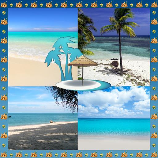 Strand-Foto-Collage