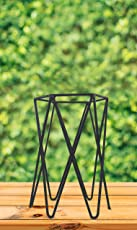 Dhatu Iron Pot Stand - Plant Stand for Tables Powder Coated Designed for Home Decor, Office Decor, Perfect Decorative Item for Tables 20 cm x 13 c