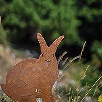 Chirpy Project decorazioni giardino sagoma coniglio in acciaio corten