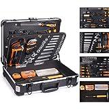 TACKLIFE Cajas de Herramientas de Aluminio,136Pcs Multifuncional Juego de Herramientas de Mano,Juego de Destornilladores de P