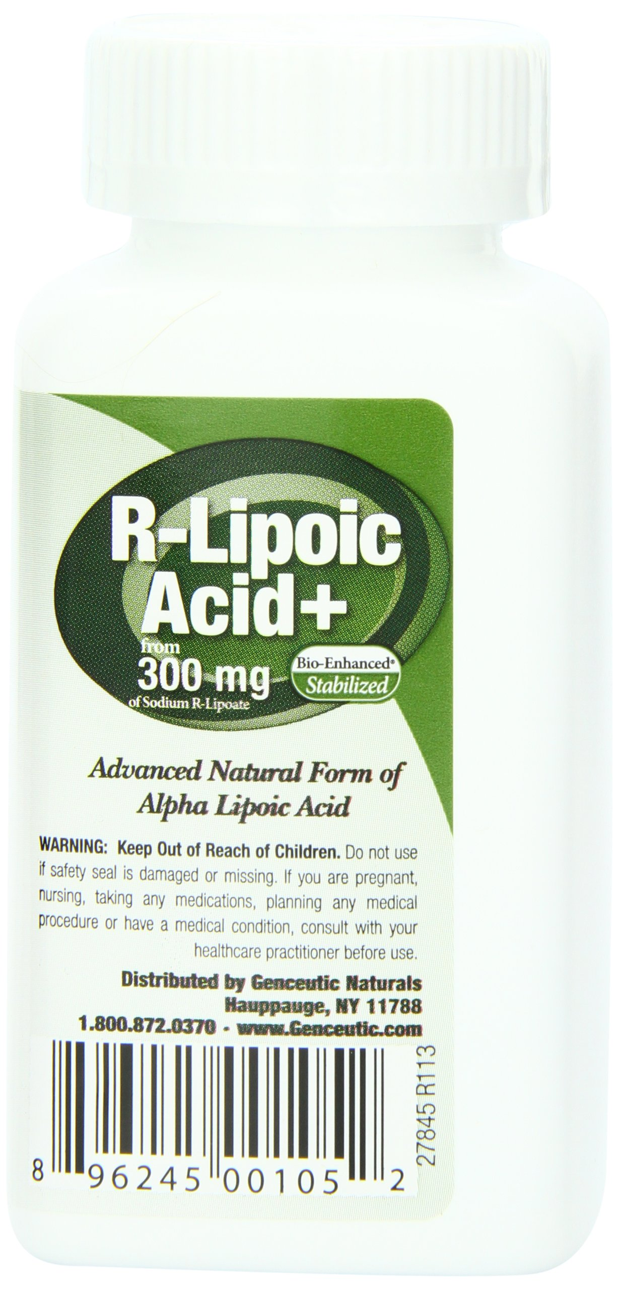 818kFMBY9tL - Genceutic Naturals R-Lipoic Acid 300 Mg, 60-Count