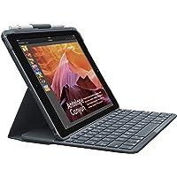 Logitech Slim Folio iPad Hülle mit Kabelloser Bluetooth Tastatur, Für's iPad der 5. & 6. Generation (A1893, A1954, A1822, A1823), 14 iOS-Sondertasten, 4-Jahre Akkulaufzeit, Deutsches QWERTZ-Layout
