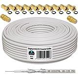 deleyCON HQ+ 100m Cable Coaxial Sat 130dB Blindado de 5 Capas ...