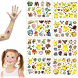GUBOOM Tattoo Kids, 8 Vellen Pokemon Kids Tattoos Set, Waterproof Kids Tattoos Pokemon, Huidvriendelijke Kids Tattoos, Waterp